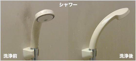 シャワー 洗浄前と洗浄後