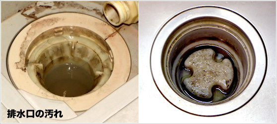 排水管の中の汚れ